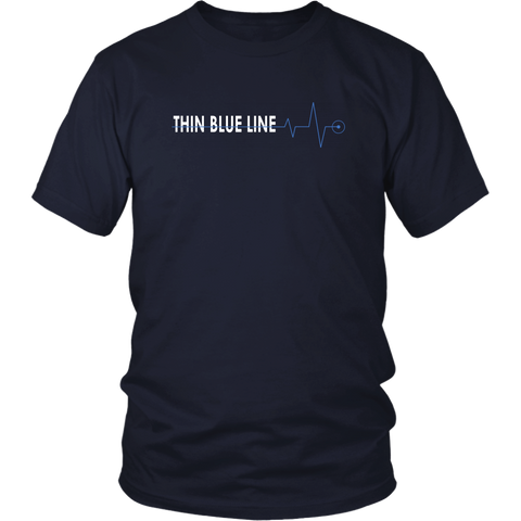 Thin Blue Line Heartbeat Shirt