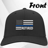 Thin Blue Line Cap w Retired Text