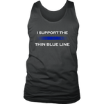 """I support the Thin Blue Line"" - Tank tops"