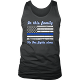 """In this family, no-one fights alone"" - Tank tops"