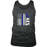 """We got your six"" - Thin Blue Line Tank tops"