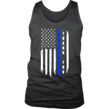 """Thank you"" - Thin Blue Line Flag Tank tops"