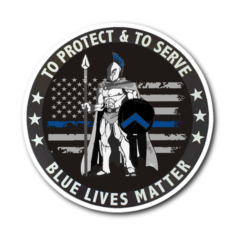 To Protect & to Serve - Blue Lives Matter - Sticker/Decal