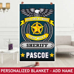 Personalized Blanket - Feel Safe - Sheriff