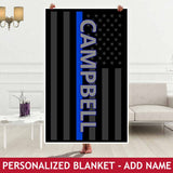 Personalized Blanket - Flag - Add Name