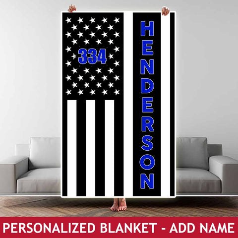 Personalized Blanket - Badge No. + Name