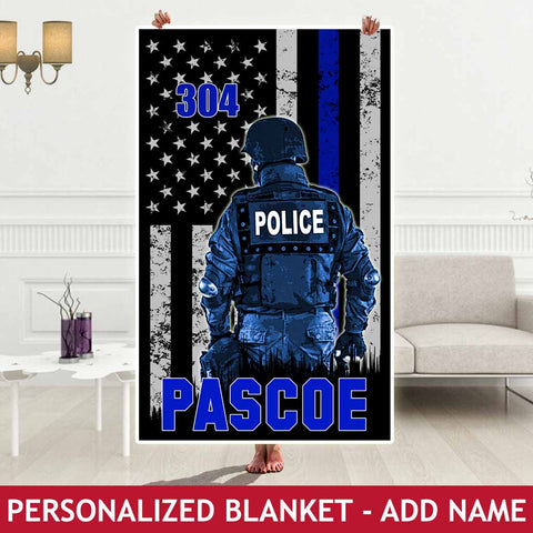 Personalized Blanket - Police Hero