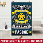 Personalized Blanket - Feel Safe - Deputy