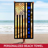 Personalized Beach Towel - Beach Sunset