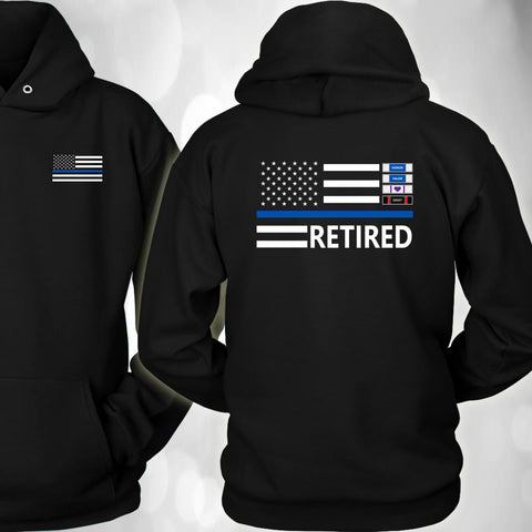 Thin Blue Line Hoodie - Version 1