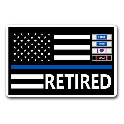 Thin Blue Line Decal - Version 1
