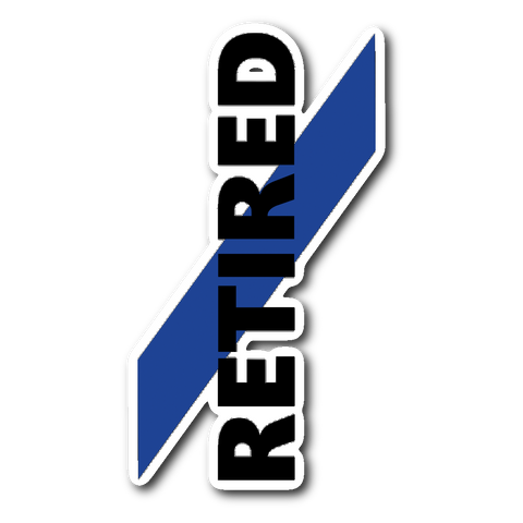 Retired Police Officer Sticker