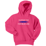 "Youth ""I support the Thin Blue Line"" Hoodie - Kids"