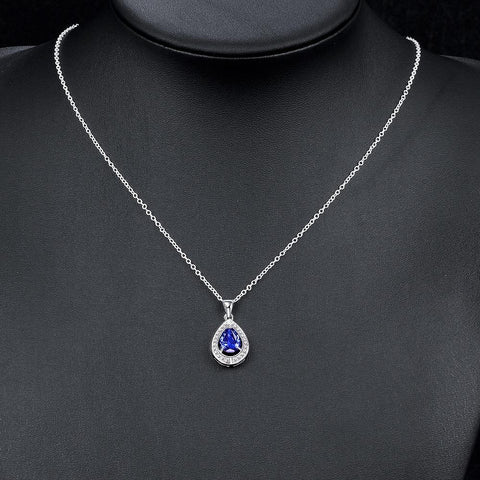TBL Ales Necklace made with Swarovski Crystals plated in 18K White Gold