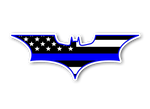Batman - Thin Blue Line Sticker/Decal