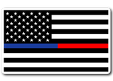 Blue and Red Line American Flag Sticker/Decal