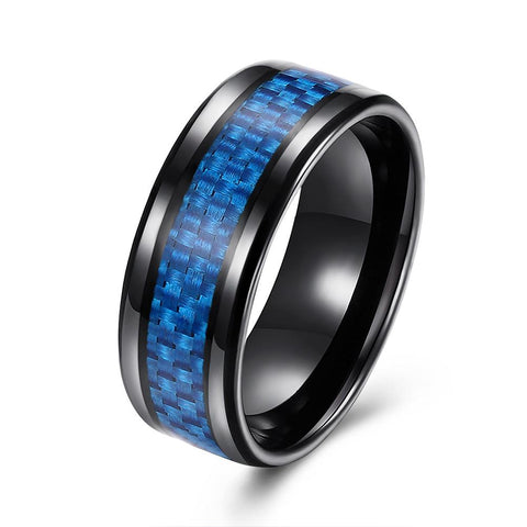 Thin Blue Line Stainless Steel Ring - Art 2