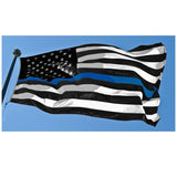 Thin Blue Line American Flag - 3 x 5 Foot Flag With Grommets
