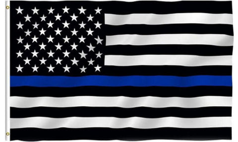 Thin Blue Line American Flag - 3 x 5 Foot