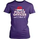 """I Kissed A Police Officer"" - Red lips - Shirt + Hoodies"