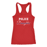 Women's Police Daughter - Racerback Tank Top