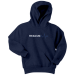 "Youth Thin Blue Line ""Heartbeat"" Hoodie - Kids"