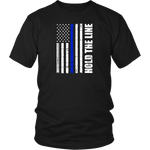 Hold the line Thin Blue Line flag Shirts