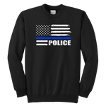 Police - Thin Blue Line - Kids Sweatshirt