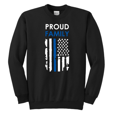 Proud Family - Thin Blue Line - Kids Sweatshirt