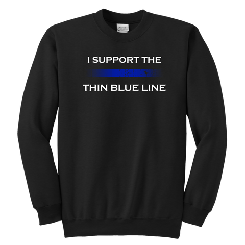 """I support the Thin Blue Line"" - Kids Sweatshirt"