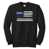 """Respect this Line"" - Thin Blue Line Kids Sweatshirt"