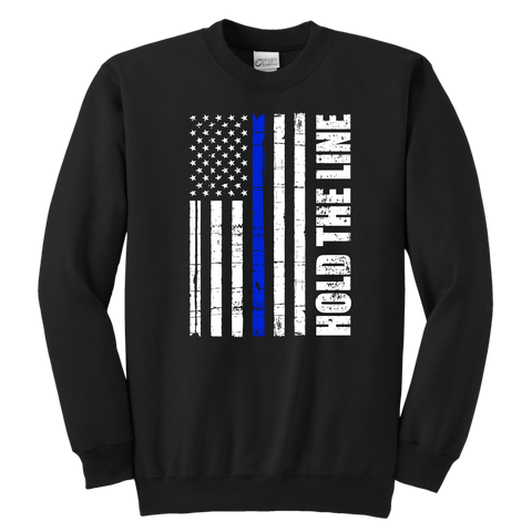 Hold the line - Thin Blue Line - Kids Sweatshirt