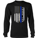 """Thank you"" - Thin Blue Line Flag Shirt + Hoodies"