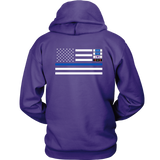 Thin Blue Line Hoodie - Version 2
