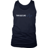 Thin Blue Line Heartbeat - Tank top