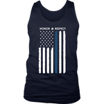 Honor Respect - Thin Blue Line Tank top