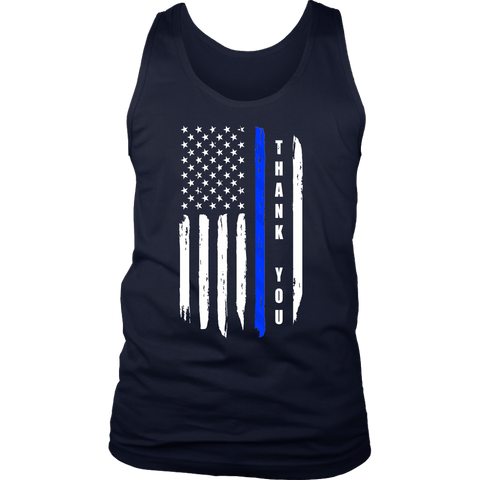 Thank you - Thin Blue Line Flag Tank Top