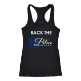 Back the Blue Badge - Women's Racerback Tank Top