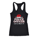 I Kissed A Police Officer - Women's Racerback Tank Top