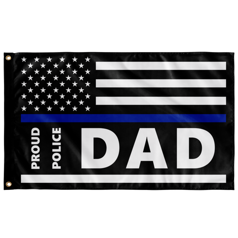 Proud Police Dad - Thin Blue Line Flag