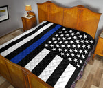 Thin Blue Line Quilt - Type 1