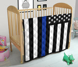 Thin Blue Line Baby Blanket