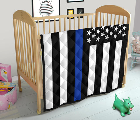 Thin Blue Line Baby Blanket/Quilt - Type 1