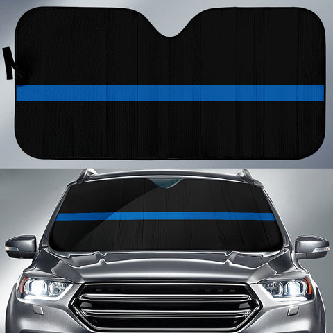 Thin Blue Line - Auto (Car) Sun Shade