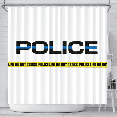 POLICE - Thin Blue Line Shower Curtain