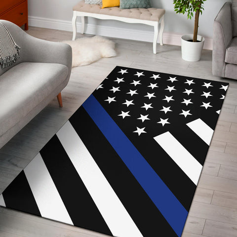 Thin Blue Line Rug - Type 2