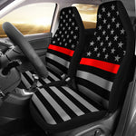 Thin Red Line Flag - Car Seat Covers