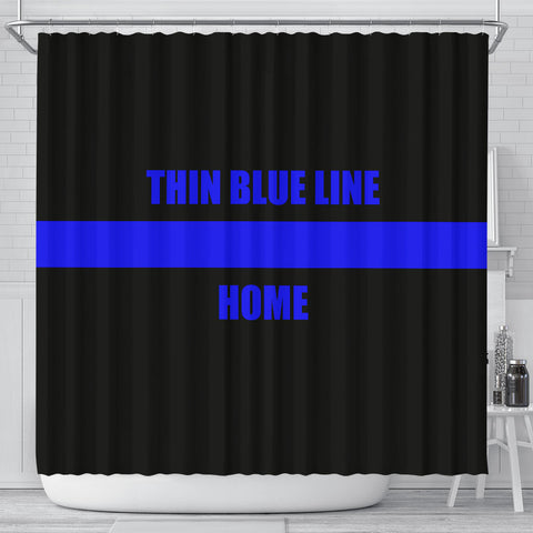 Thin Blue Line HOME - Shower Curtain