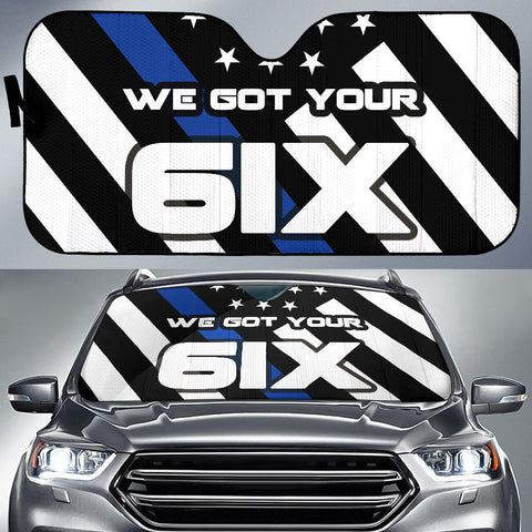 We got your SIX - Auto (Car) Sun Shade