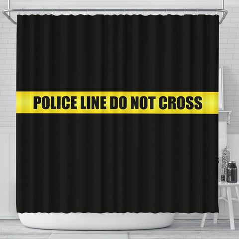 Police Line Do Not Cross - Shower Curtain